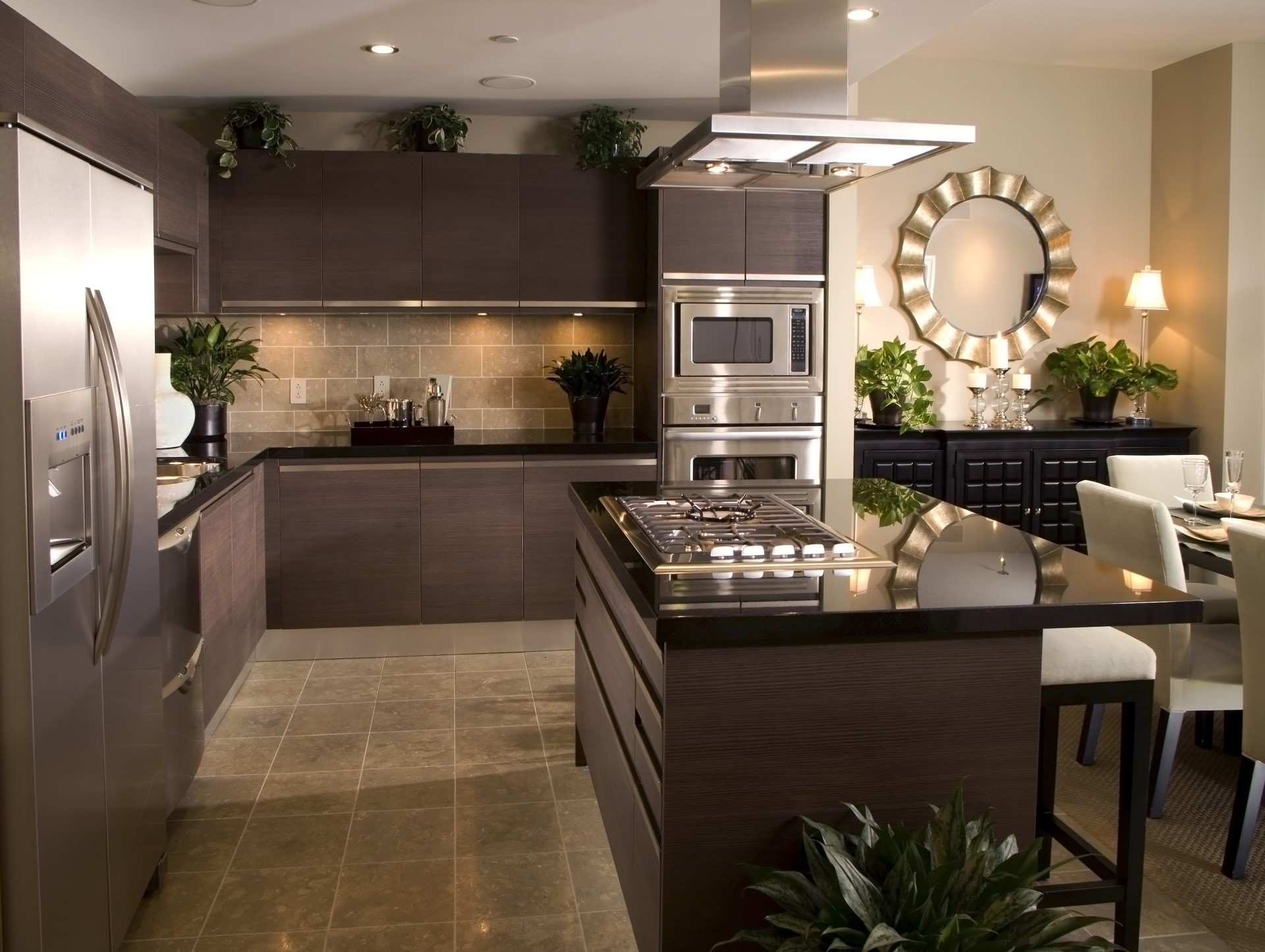 Contemporary styles are getting very popular because they provide a warm feeling. While being very close to modern, they tend to bring in more elements such as steel, stone, and wooden decor.