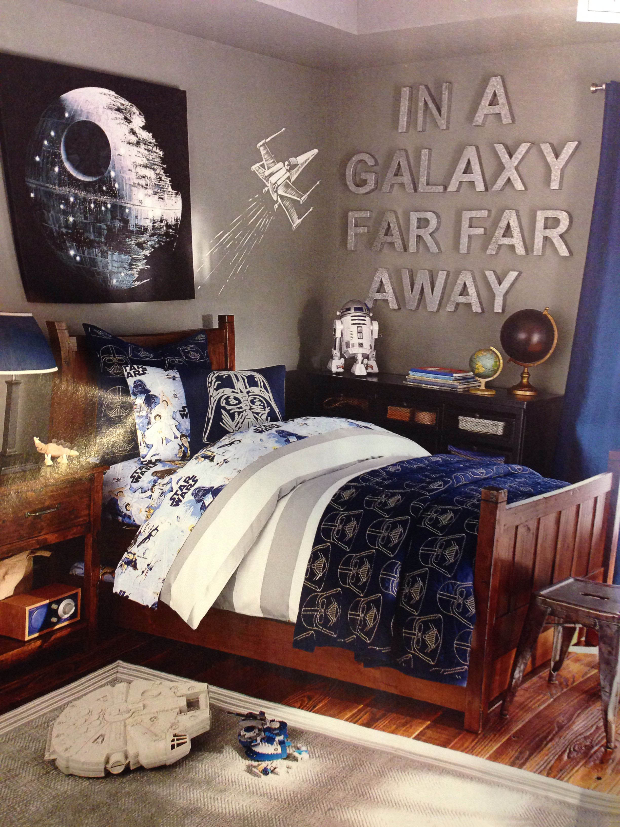 You can always hang metallic lettering to really finish off your Star Wars bedroom.