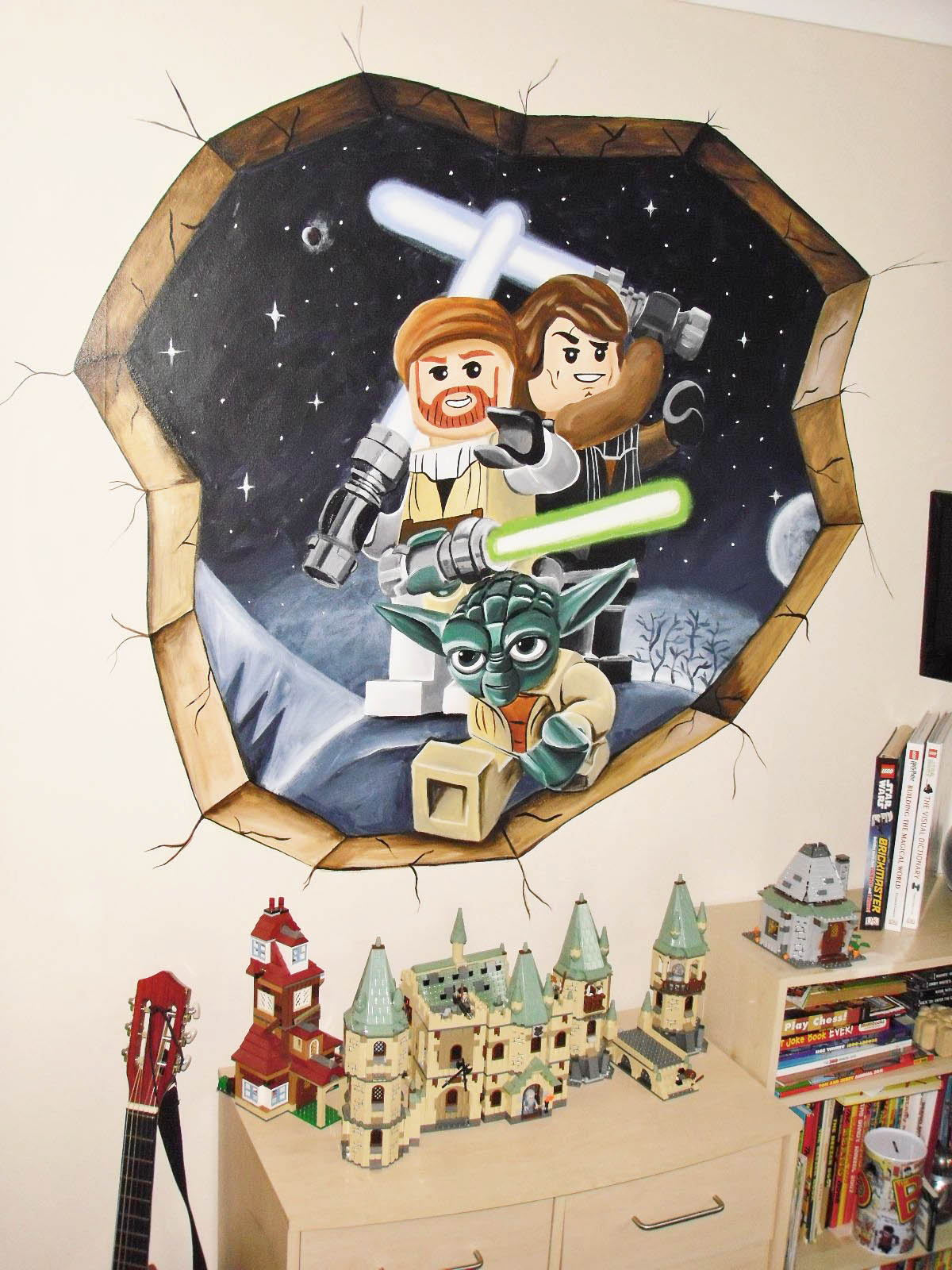 It doesn't have to cost a lot of money to bring out the Star Wars and you, just put up a vinyl Lego Star Wars Breakaway Wall sticker and you're good to go!