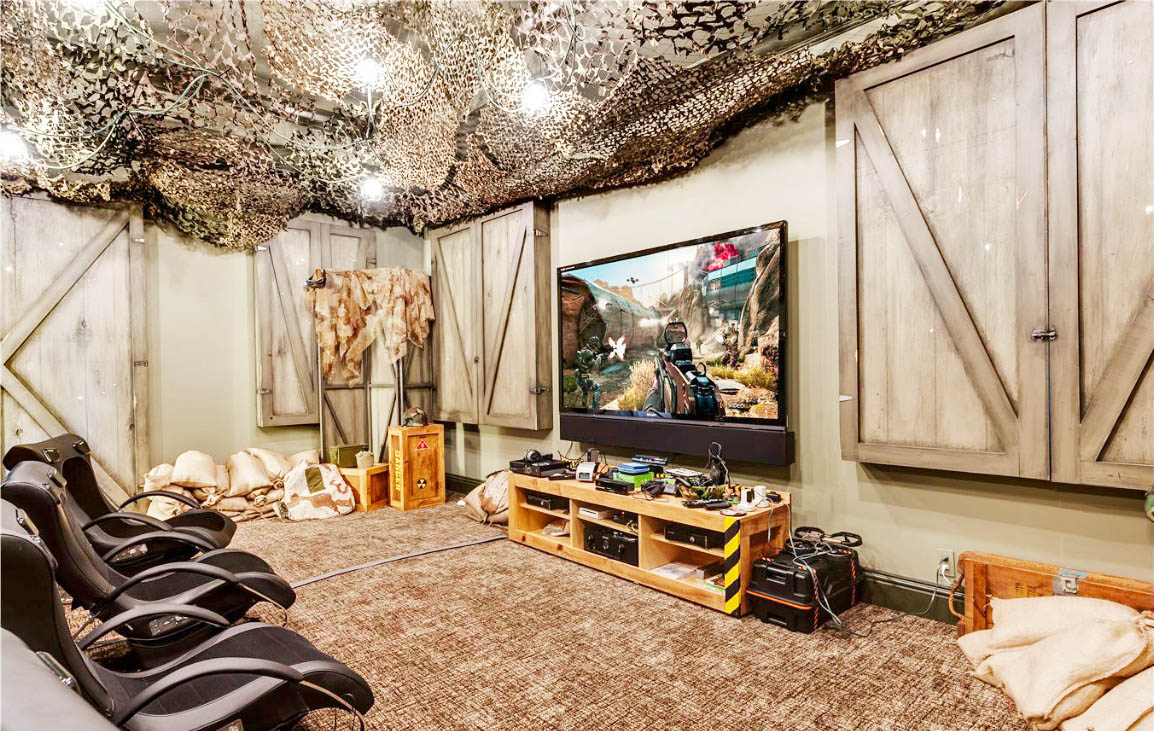 Pretty cool way to bring in a Star Wars game room.