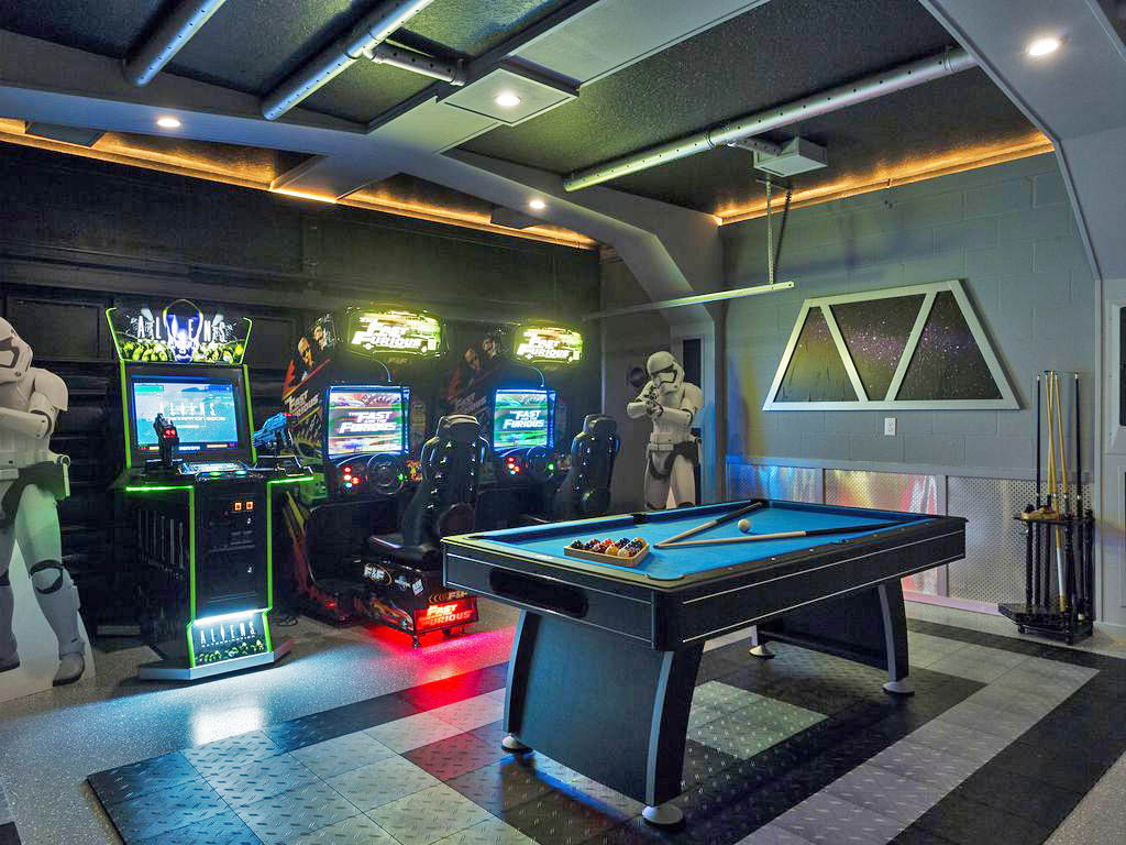 So far, this is the nicest Star Wars game I've seen. If you're wondering, this is aStar Wars vacation rental that can be found in the neighborhoodChampion Villa located in Four Corners, Florida.