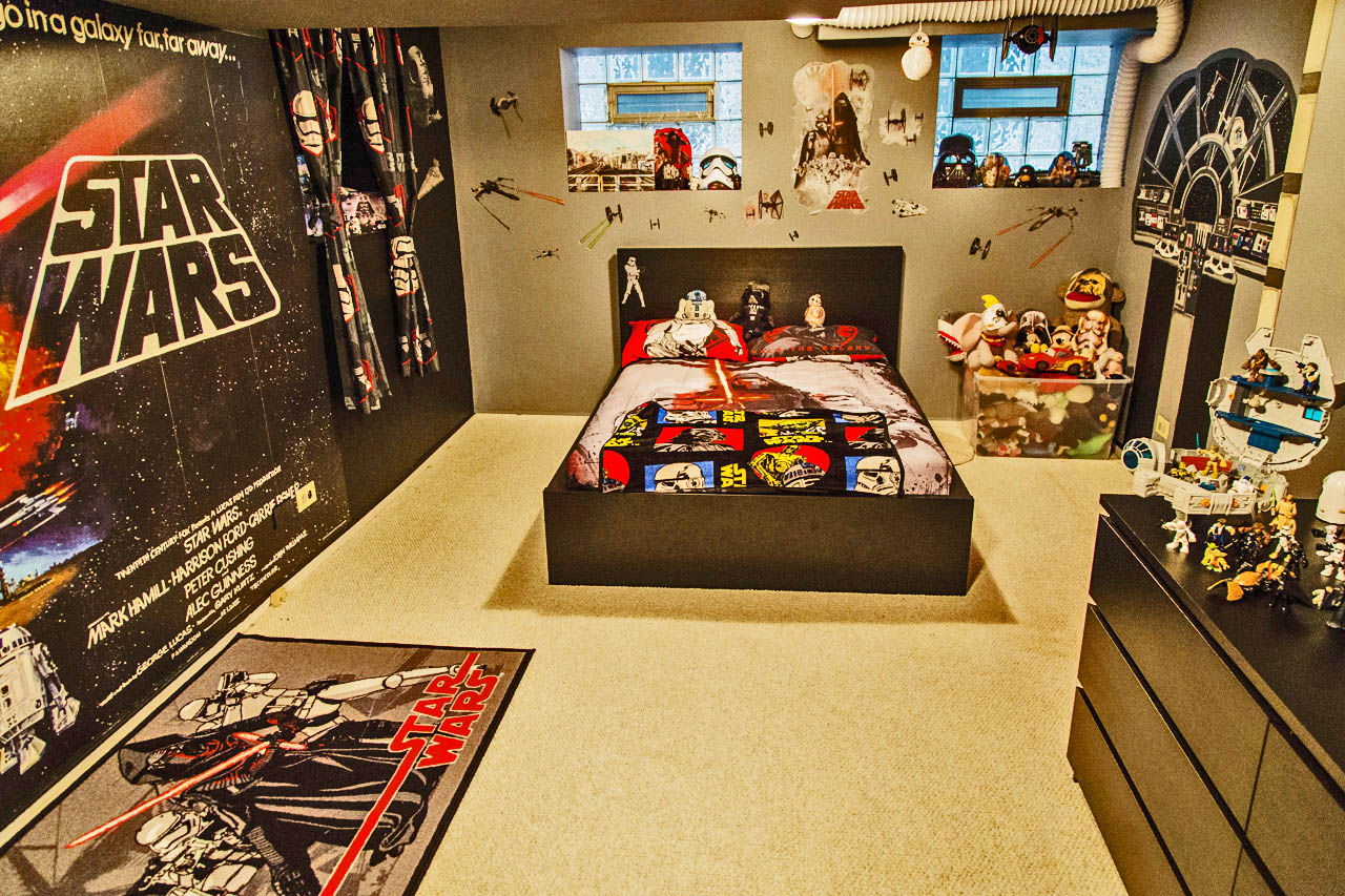 Out of a real Star Wars fans bedroom, this dedicated to the trueStar Wars fans out there.