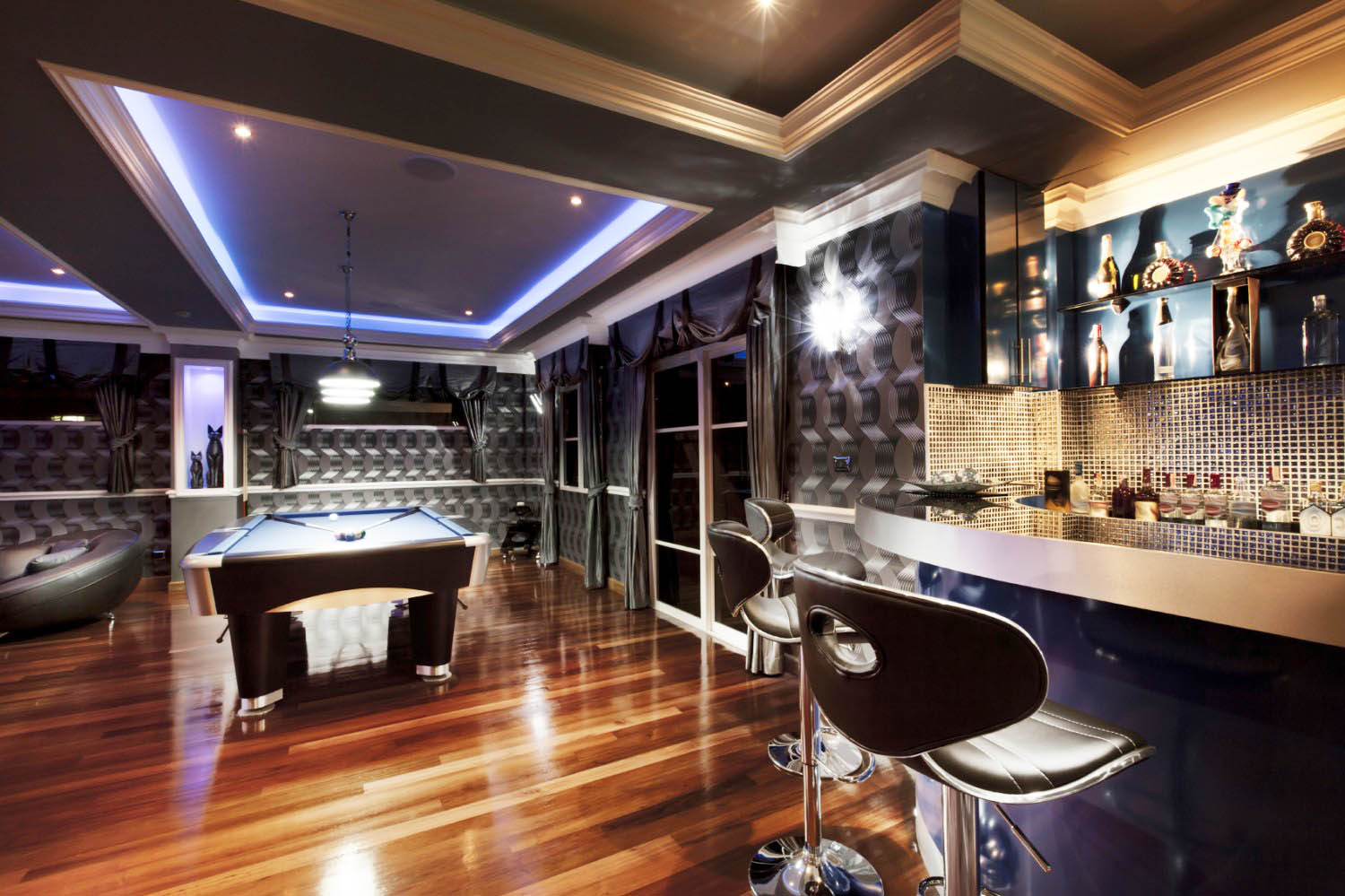 If you're going for an awesome idea to complete your man cave, this is an elegant and futuristic way to make it happen.