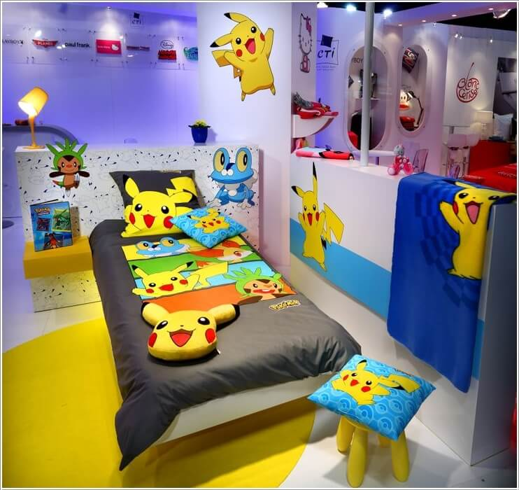 Having a Pokemon Bedroom is every kids dream. It's colorful art and exciting card game is something you could look forward to every time you come home. Here's some ideas to help get you started finding a style that you like.