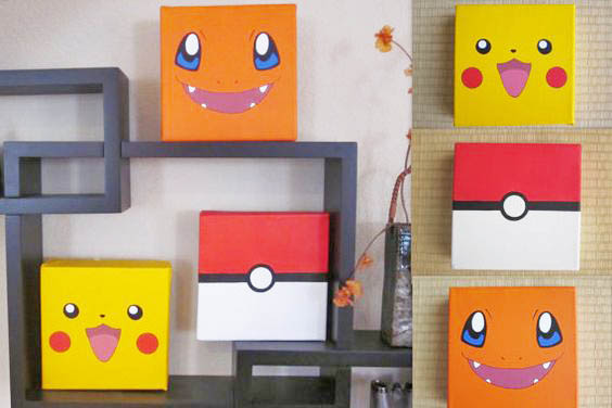 These Pokémon face canvases are a sure way to catch some attention.